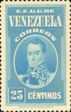 [Gathering Coffee Beans, Bolivar and General Post Office, Caracas, type HG2]