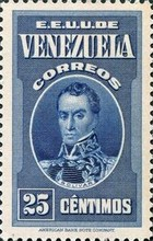 [Gathering Coffee Beans, Bolivar and General Post Office, Caracas, type HG3]