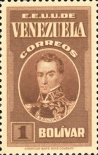 [Gathering Coffee Beans, Bolivar and General Post Office, Caracas, type HG5]