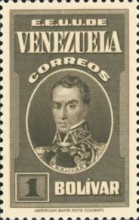 [Gathering Coffee Beans, Bolivar and General Post Office, Caracas, type HG6]