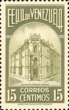 [Gathering Coffee Beans, Bolivar and General Post Office, Caracas, type HH1]
