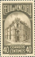 [Gathering Coffee Beans, Bolivar and General Post Office, Caracas, type HH3]