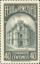 [Gathering Coffee Beans, Bolivar and General Post Office, Caracas, type HH4]