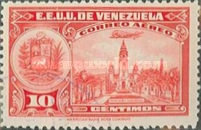 [Airmail - La Guaira, National Pantheon and Oil Wells, type HY]