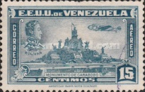 [Airmail - La Guaira, National Pantheon and Oil Wells, type HZ6]