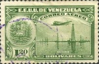 [Airmail - La Guaira, National Pantheon and Oil Wells, type HZ7]