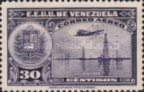 [Airmail - La Guaira, National Pantheon and Oil Wells, type HZ9]