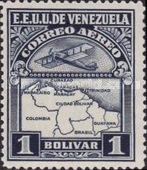 [Airmail - Airplane and Map, type JO7]