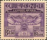 [Airmail - The 100th Anniversary of Arrival of Bolivar's Ashes at Caracas and Liberator's Monument Fund, type MS1]