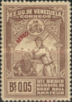 [Airmail - The 7th World Amateur Baseball Championship Games, Caracas - Overprinted