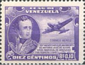 [Airmail - The 110th Anniversary of the Birth of General Antonio José de Sucre, 1795-1830, type PA1]