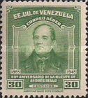 [Airmail - The 80th Anniversary of the Death of Andres Bello, Educationalist, 1781-1865, type PK1]