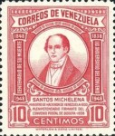 [The 110th Anniversary of the Death of Santos Michelena, 1797-1848, type SU1]
