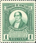 [The 110th Anniversary of the Death of Santos Michelena, 1797-1848, type SU3]