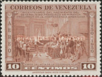 [Airmail - The 200th Anniversary of the Birth of General Francisco de Miranda, 1750-1816, type UC1]