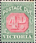 [Numeral Stamps - Rose Center, Typ A17]