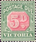 [Numeral Stamps - Rose Center, Typ A18]