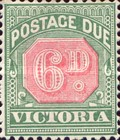 [Numeral Stamps - Rose Center, Typ A19]