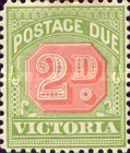 [Numeral Stamps - Red Center, New Watermark, Typ A34]