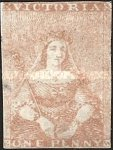 [Queen Victoria - 2nd Ham Printing. Strengthened Line of Colour Above