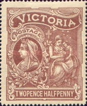 [Queen Victoria Charity Issue, type AW]