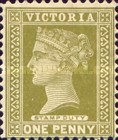 [Postage Stamps of 1885 & 1890 in New Colors - Inscription