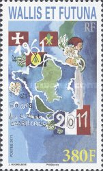 [The 50th Anniversary of the Territory of Wallis and Fortuna, type AGU]