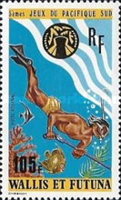 [Airmail - The 5th South Pacific Games, Guam, type DR]
