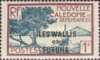 [New Caledonia Postage Stamps of 1928 Overprinted