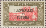 [New Caledonia Postage Stamps of 1939 Overprinted