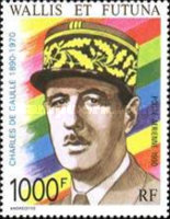 [Airmail - The 100th Anniversary of the Birth of Charles de Gaulle, French Statesman, 1890-1970, type PW]