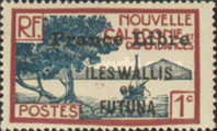 """[Adherence to General de Gaulle - Stamps of 1930-1940 Overprinted """"France Libre"""", type Q]"""