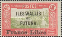 """[Adherence to General de Gaulle - Stamps of 1930-1938 Overprinted """"France Libre"""", type Q11]"""