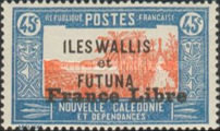 """[Adherence to General de Gaulle - Stamps of 1930-1938 Overprinted """"France Libre"""", type Q12]"""