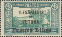 """[Adherence to General de Gaulle - Stamps of 1930-1938 Overprinted """"France Libre"""", type Q13]"""