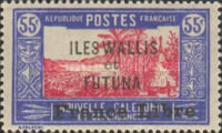 """[Adherence to General de Gaulle - Stamps of 1930-1938 Overprinted """"France Libre"""", type Q15]"""
