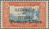 """[Adherence to General de Gaulle - Stamps of 1930-1938 Overprinted """"France Libre"""", type Q17]"""