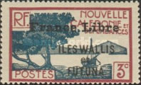 """[Adherence to General de Gaulle - Stamps of 1930-1940 Overprinted """"France Libre"""", type Q2]"""
