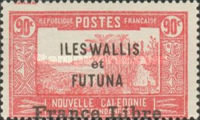 """[Adherence to General de Gaulle - Stamps of 1930-1938 Overprinted """"France Libre"""", type Q22]"""