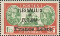 """[Adherence to General de Gaulle - Stamps of 1930-1940 Overprinted """"France Libre"""", type Q24]"""