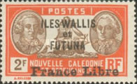 """[Adherence to General de Gaulle - Stamps of 1930-1940 Overprinted """"France Libre"""", type Q27]"""