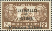 """[Adherence to General de Gaulle - Stamps of 1930-1940 Overprinted """"France Libre"""", type Q28]"""