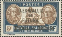 """[Adherence to General de Gaulle - Stamps of 1930-1940 Overprinted """"France Libre"""", type Q30]"""