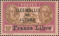 """[Adherence to General de Gaulle - Stamps of 1930-1940 Overprinted """"France Libre"""", type Q31]"""