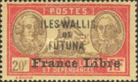 """[Adherence to General de Gaulle - Stamps of 1930-1940 Overprinted """"France Libre"""", type Q32]"""