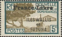 """[Adherence to General de Gaulle - Stamps of 1930-1940 Overprinted """"France Libre"""", type Q4]"""