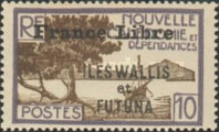 """[Adherence to General de Gaulle - Stamps of 1930-1940 Overprinted """"France Libre"""", type Q5]"""