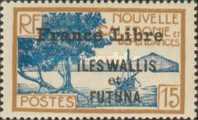"""[Adherence to General de Gaulle - Stamps of 1930-1940 Overprinted """"France Libre"""", type Q6]"""