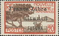 """[Adherence to General de Gaulle - Stamps of 1930-1940 Overprinted """"France Libre"""", type Q7]"""