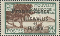 """[Adherence to General de Gaulle - Stamps of 1930-1940 Overprinted """"France Libre"""", type Q8]"""